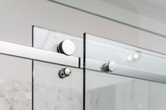 Sliding Hardware on Frameless Shower Door Eclipse Glass-Port Moody Showroom