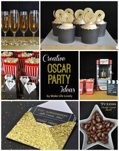 Make Life Lovely: Free Printable Oscar Party Invitations + DIY Gold Glitter Envelopes Hollywood Party, Hollywood Birthday Parties, Hollywood Wedding, Oscar Party, Soirée Des Oscars, Deco Cinema, Red Carpet Party, Quinceanera Party, Quinceanera Centerpieces