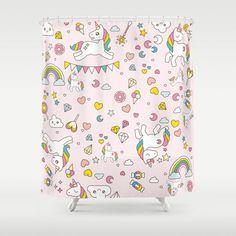Unicorn Pattern Shower Curtain