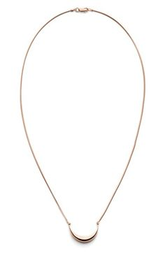 Shinola Small Crescent Pendant Necklace available at #Nordstrom