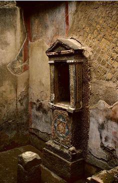 cornifer:  House of the Skeleton, fountain. Location: Herculaneum, Italy