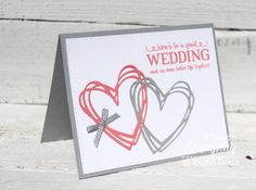 Need to make a wedding card?  Here is a simple and fun card you can make using Stampin' Up!'s Sunshine Wishes Thinlits. Click here for more: http://www.iteachstamping.com/2016/06/using-stampin-ups-sunshine-wishes-thinlits-to-make-a-wedding-card/
