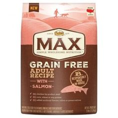 NUTRO MAX Adult Grain Free Dog Food contains no grain and leaves dogs satisfied. Our affordable food for dogs is all natural and is made with farm-raised chicken plus legumes and potatoes as healthy . Chicken Minis, Chicken For Dogs, Grain Free Dog Food, Free Food, Dried Potatoes, Natural Dog Food, Food Intolerance, Grain Foods, Dry Dog Food