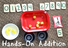 In Lieu of Preschool: Simple Math: Hands-On Addition