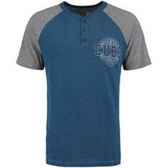 5c0f49c9 Chicago Cubs New Era Tri-Blend Raglan Henley T-Shirt - Royal/Heathered