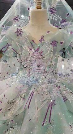 Frozen Elsa Inspired Princess Dresses Little Girls Ball Gowns KD1014