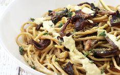 Creamy Spaghetti With Wild Mushrooms [Vegan] | One Green Planet
