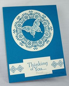 Moroccan Nights Stampin' Up!  Punch out the medallion center and make a wreath.  www.beebugcreations.com