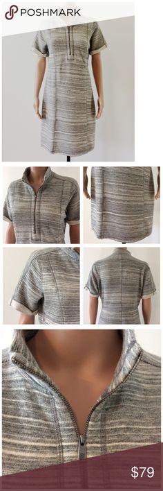 Tommy Bahama Gray Sweater Dress Size Medium New with tags!  Short sleeves.  #falldress #winterdress #dress #cute Tommy Bahama Dresses Midi