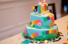 Cake from a Candyland Party #candyland #partycake
