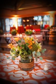 Meetings & Events at @fsdallas | Meritage Events | Pavilion | Rustic dinner centerpiece