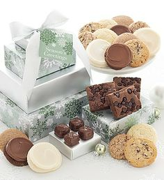Merry and bright vip gift tower holiday cookies pinterest elegant holiday sugar free gift tower negle Image collections