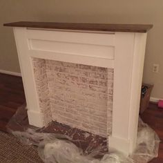 Build Your Own Fireplace Mantle . Build Your Own Fireplace Mantle . Ana White Faux Fireplace Mantel Diy Projects In 2019 Faux Fireplace Mantels, Faux Mantle, Diy Mantel, Concrete Fireplace, White Fireplace, Fireplace Inserts, Fireplace Surrounds, Fireplace Design, Fireplace Ideas