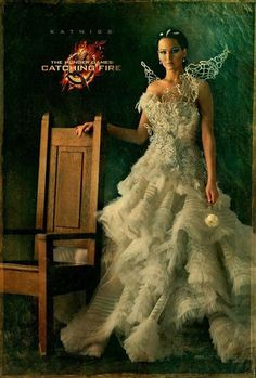 Katniss is catching fire in this gown! #hungergames