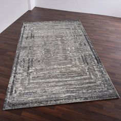 Fangri Grey Multi Deluxe Wool Rug by Theko Wool Rug, Pattern Design, Color Schemes, Rugs, Abstract, Grey, Silk, Chic, Products