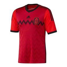 bddb5ed112e Adidas Mexico Away  13- 14 Replica Soccer Jersey (Red Black)