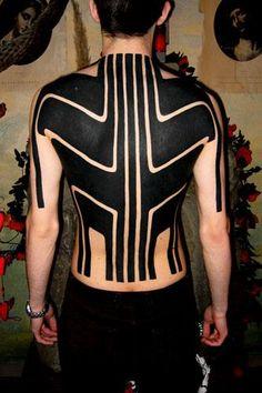site dedicated to blackwork or black work tattoos Black Line Tattoo, Line Tattoos, Word Tattoos, Black Tattoos, Body Art Tattoos, 3 Tattoo, Tatoos, Clever Tattoos, Great Tattoos