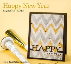 Happy New Year from the Winter 2015 issue of CardMaker Magazine. Order a digital copy here: https://www.anniescatalog.com/detail.html?prod_id=127955