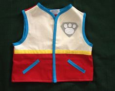 Paw Patrol inspired cotton twill costume vests d74041a9f6c