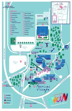 WoW Festival Map Kids Calendar, Calendar Design, Signage Design, Branding Design, Sitemap Design, Navigation Design, Campus Map, Leaflet Design, Wow Events