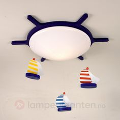 Sailing Boats ceiling light with a boat design Boat Design, Color Azul, Lamp Design, Sailing, Kids Room, Table Lamp, Ceiling Lights, Children's Lighting, Products