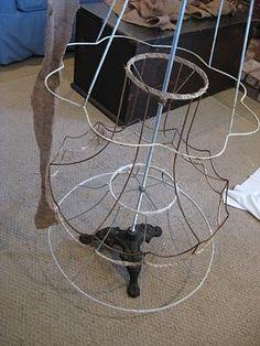 how to make a lampshade tree/topiary - via sweetmagnoliasfarm