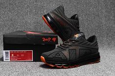 Nike Air Max Flair Large AIR Design Shoes Carbon Gray Orange For Men