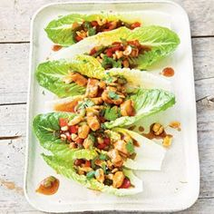 This playful spin on tacos starts with an Asian-style stir-fry, then uses crisp, romaine lettuce as a stand-in for tortillas.