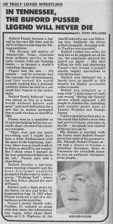 bufford pusser | Wrestling Spotlight: Buford Pusser--Sheriff, Fighter of Crime ... Walking Tall, True Crime, Sheriff, True Stories, Spotlight, Tennessee, Real Life, Police, Wrestling