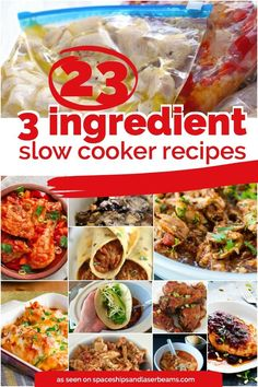 No matter how much you love cooking and spending time in your kitchen, there is always appreciation for a simple 3-ingredient (or less!) slow cooker recipe! Yes—3 ingredients or less and cooked in the slow cooker. Does it get any easier? We've scoured the internet... #crockpot #easymeals #featured , Follow PowerRecipes For M