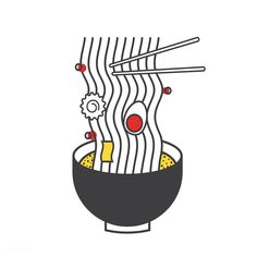 cool illustration of ramen noodle Get this free vector at rawpixel.com