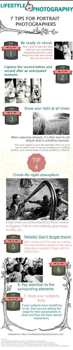 7 Tips for Portrait Photographers   #infographic #Photographers #Photography