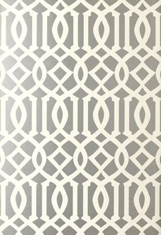 Schumacher Kelly Wearstler Imperial Trellis Silver Wallpaper