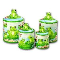 frog canisters.