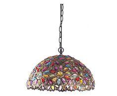 Lámpara de techo de metal y resina 71€.