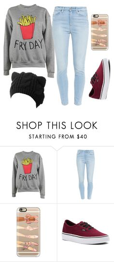 """""""SEM TÍTULO #69"""" by luhpayne-948 on Polyvore featuring moda, Adolescent Clothing, Paige Denim, Casetify e Vans"""