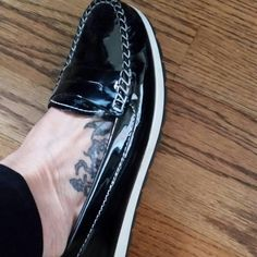 Geox funky,  SUPER COMFY  patent leather loafer hardly worn Geox Shoes