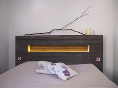 Headboard with hole and light