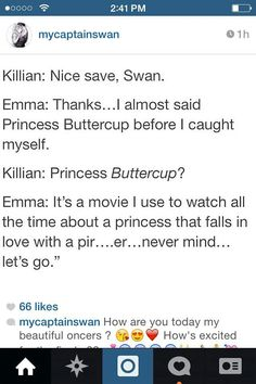 Haha Captain Swan ❤