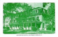 Southern Pines North Carolina NC 1950s Southland Hotel Antique Vintage Postcard Southern Pines North Carolina NC 1950s Southland Hotel. Unused antique vintage postcard in excellent condition and an un