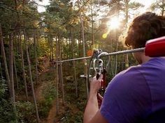 Go Ape takes adventure seriously, offering a full treetop obstacle course, 5 challenging rope ladders sections & 39 crossings. #zipline #adventure #travel