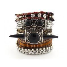 Hipanema Montana Bracelet (125 CAD) ❤ liked on Polyvore featuring jewelry, bracelets, beaded bangles, beaded macrame jewelry, boho chic jewelry, boho bangles and boho jewelry