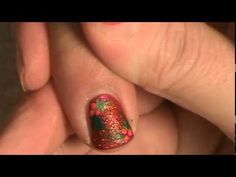 Basic Holly Berries Nail Art Tutorial - Christmas Nails - Nail Art Designs. Video Tutorial