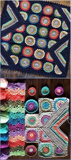Crochet Wildflower Blanket Free Pattern - Crochet Flower Blanket Free Patterns