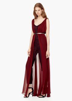 Premium - kombinierter overall aus seide - Kleider für Damen | MANGO