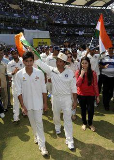 Sachin Tendulkar with his children Arjun and Sara. #ThankYouSachin #SRT200 #Sachin