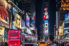 Photograph times square by Sandra Löber on Night City, New York City, Times Square, Photograph, Image, Photography, New York, Photographs, Nyc