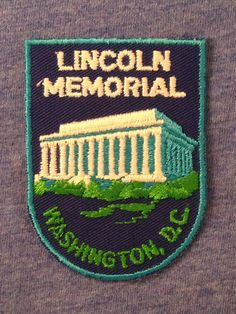 Lincoln Memorial Washington DC Vintage Souvenir Travel Patch from Voyager - LAST ONE! by HeydayRoadTrip on Etsy