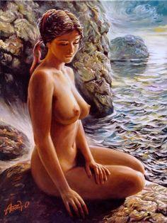 Beauty In Art, Beauty Women, Realistic Paintings, Women Figure, Human Condition, Art Model, Figure Painting, Art History, Playboy