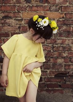 Poppy Rose gorgeous girls yellow summer dress -perfect for wedding and bridesmaid.